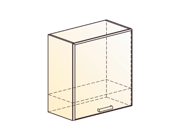 Шкаф навесной под вытяжку L600 Н566 (1 дв. гл.)