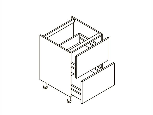 Шкаф рабочий L600 (2 ящ.) E.08.54