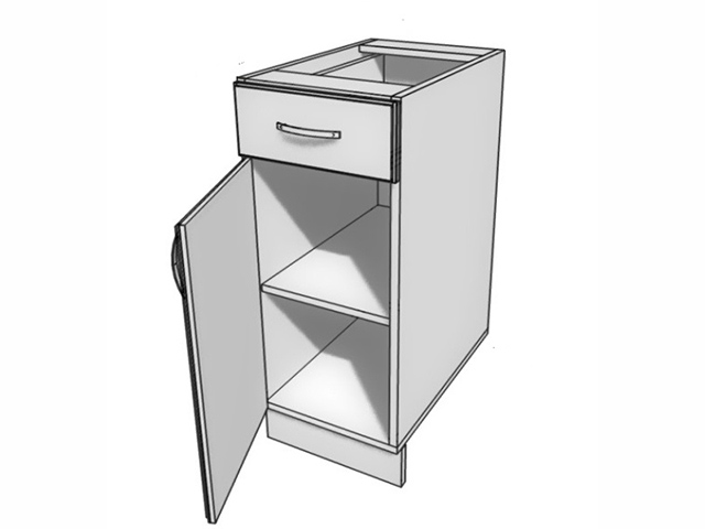 Шкаф рабочий L500 (1 дв. гл. 1 ящ.) E.08.56