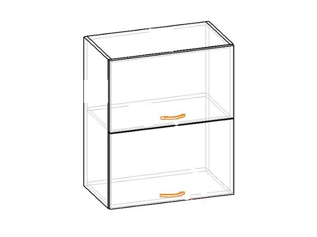 Шкаф навесной L600 Н720 (2 дв. гл. гориз.) E.08.20
