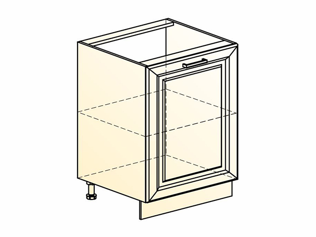 Шкаф рабочий L600 (1 дв. гл.)