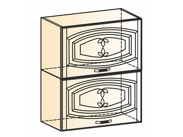 Шкаф навесной L600 Н720 (2 дв. гл. гориз.)