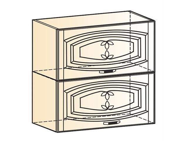 Шкаф навесной L800 Н720 (2 дв. гл. гориз.)