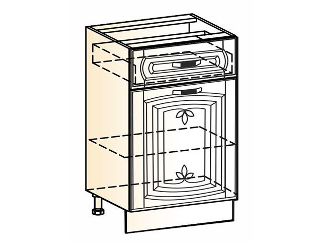 Шкаф рабочий L500 (1 дв. гл. 1 ящ.)