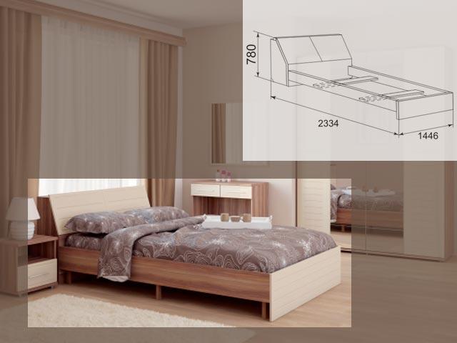 Мод.15, Кровать на 1400 б/орт.