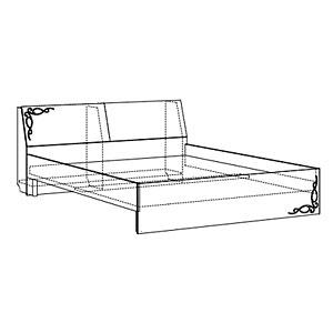Кровать двойная 1600 б/орт. №1