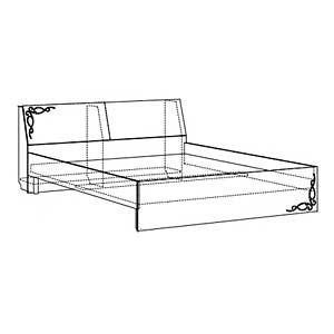 Кровать двойная 1400 б/орт. №6