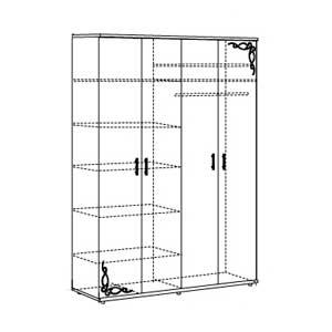 Шкаф для одежды (4-х дв.) №8