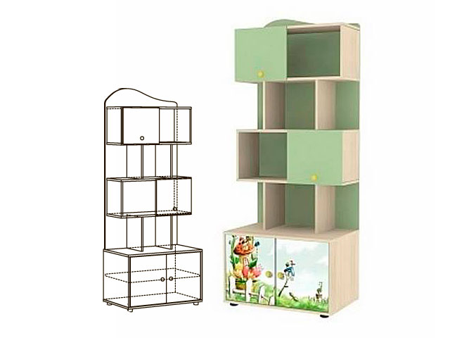 . Мод.7  Шкаф-стеллаж для книг.