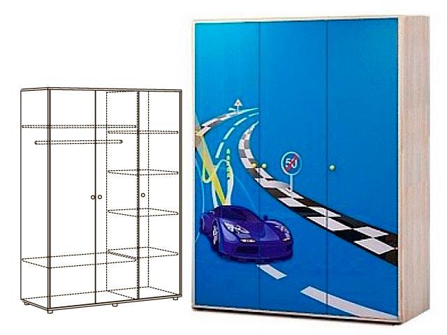 Мод.1 Шкаф 3-х дверн. для одежды