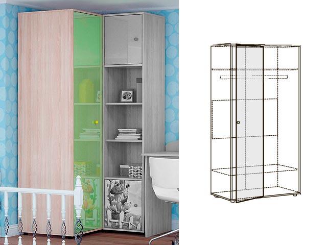 Мод.15 Шкаф угловой для одежды
