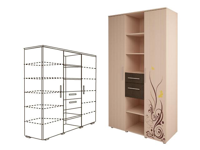 Мод.3, Шкаф комбинированный