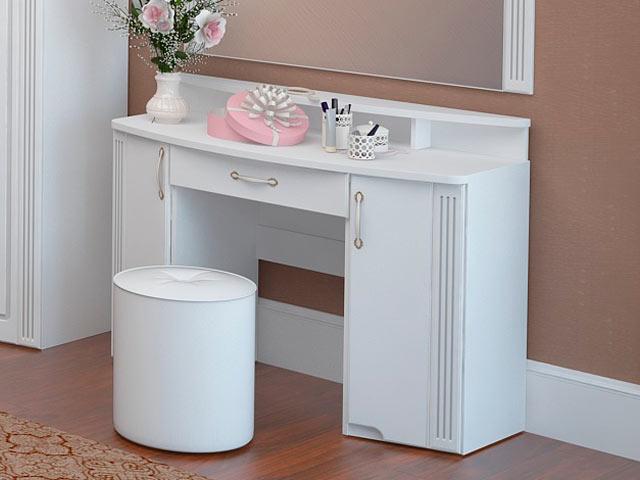 . №6 Стол туалетный без над. (белый).