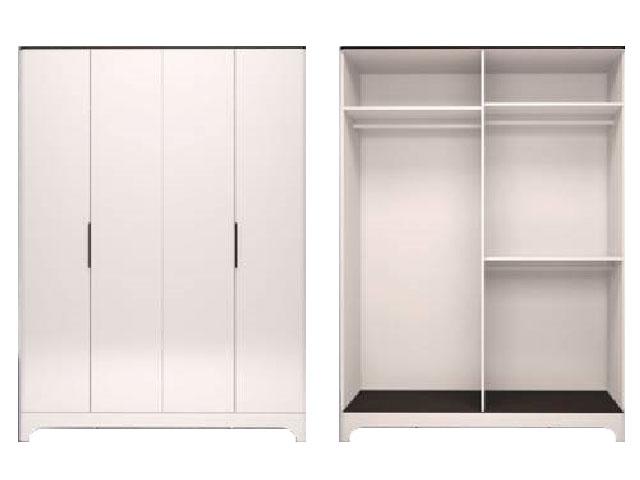 . мод.1 Шкаф для одежды 4-х дверный без зеркал.