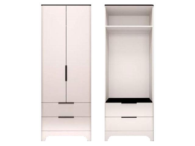 мод.9 Шкаф для одежды с ящиками 2-х дверный (без зеркал)