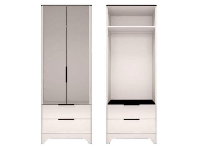 мод.9 Шкаф для одежды с ящиками 2-х дверный (с зеркалом)