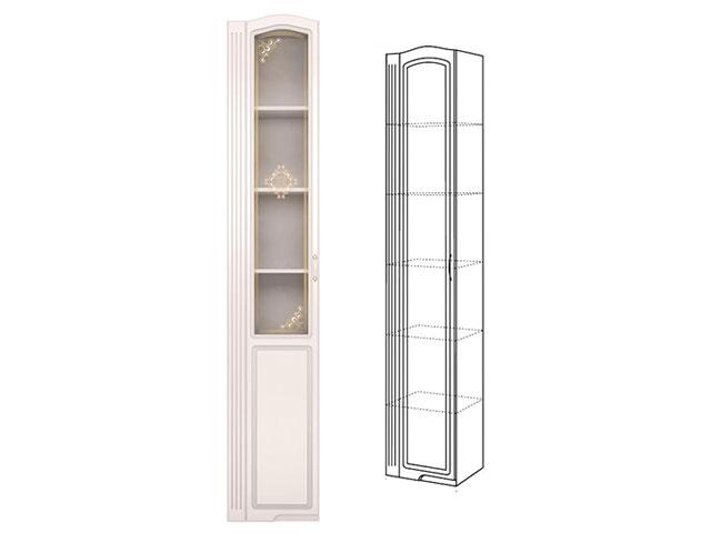 . №17 Шкаф-пенал левый со стеклом (белый).