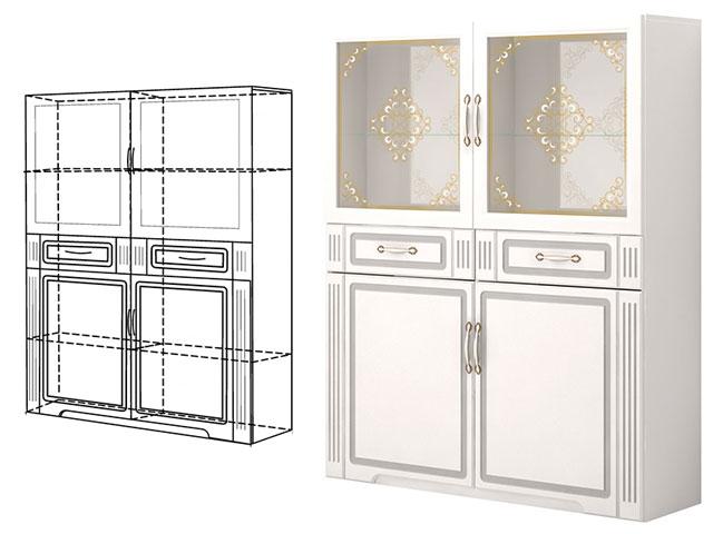 . №39 Шкаф комбинированный (белый).