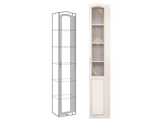 . №32 Шкаф-пенал правый со стеклом (белый).