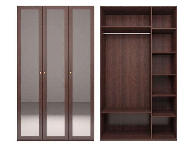мод.50 Шкаф для одежды 3-х дв. с 3-мя зеркалами