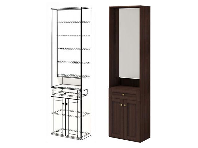 . мод.28 Шкаф комбинированный с зеркалом.