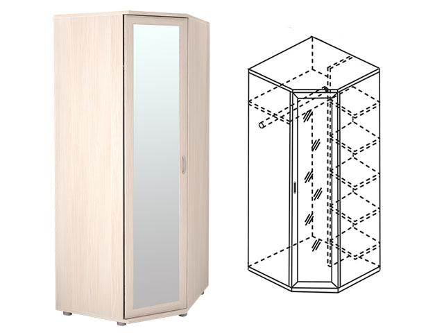 . Мод.30Р, Шкаф угловой для одежды с зеркалом.