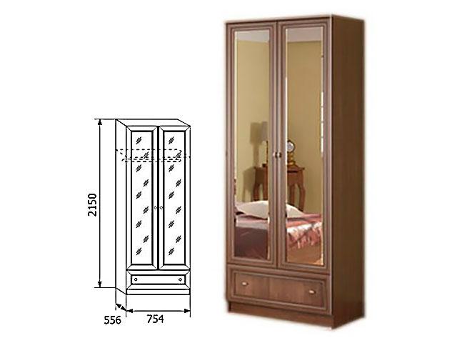 Мод.19, Шкаф для одежды с ящиком