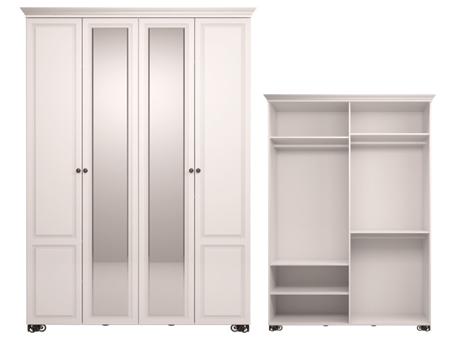 . мод.1 Шкаф для одежды 4-х дв (с зеркалом).