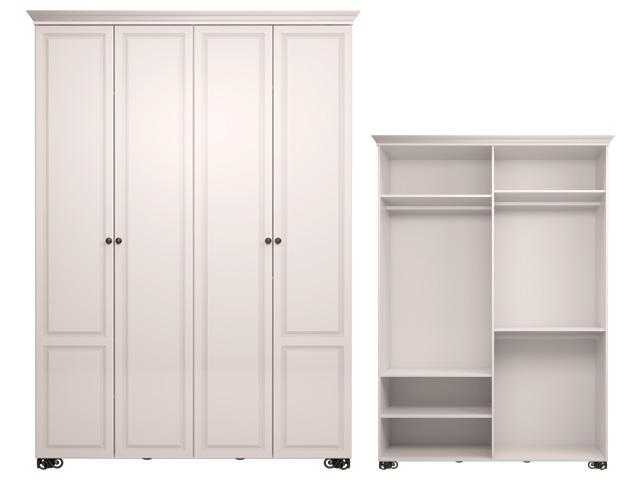. мод.1 Шкаф для одежды 4-х дв (без зеркала).