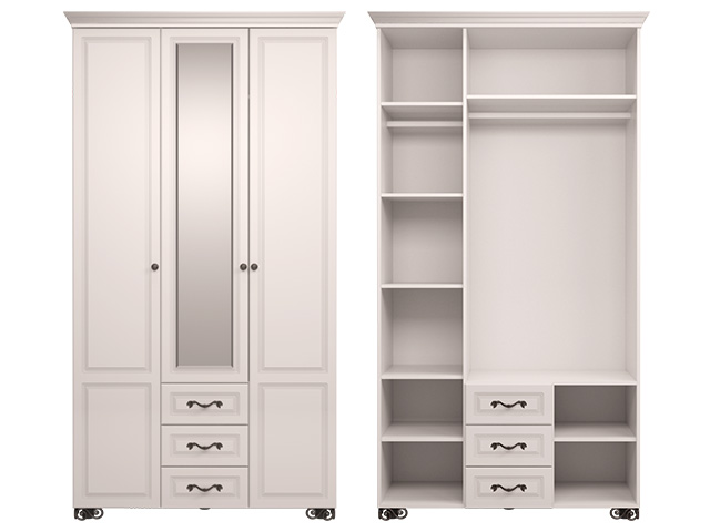 мод.2 Шкаф для одежды 3-х дв (с зеркалом)