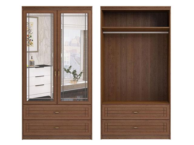 . мод.17 Шкаф для одежды и белья 2-х дверный с зеркалами.