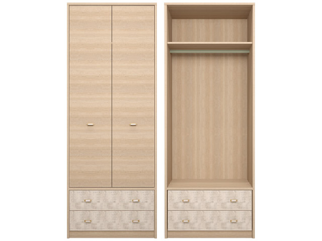. 01 Шкаф для одежды с ящиками.