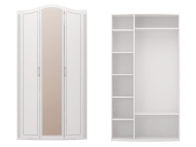 . №9 Шкаф для одежды с зерк (белый).