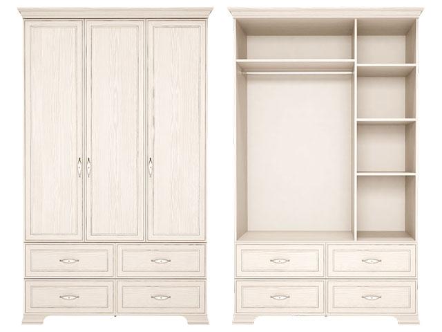 . 1 Шкаф для одежды 3-х дв с ящиками (без зеркала).