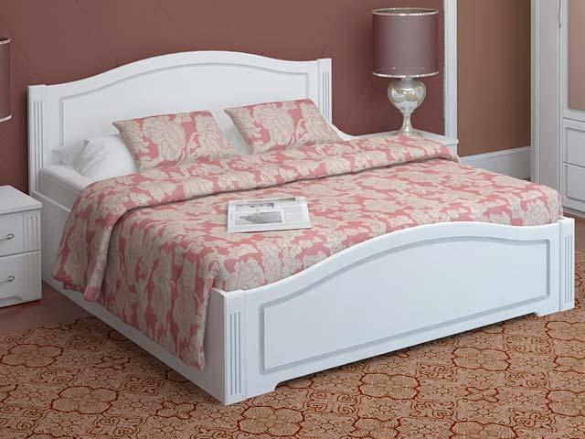 . №33 Кровать 1200 с латами (белая).