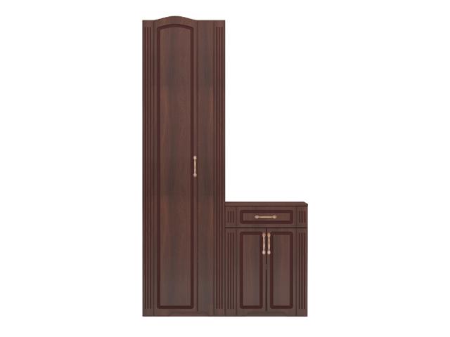 №28 Шкаф для платья с тумбой (без зеркала)