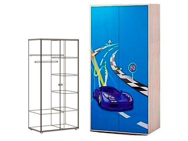Мод.2 Шкаф 2-х дверн. для одежды (розовый)