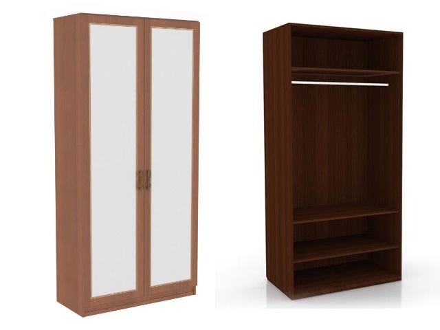 ЛД 625050.000 М шкаф 2-х створчатый (2 зеркала) Орех