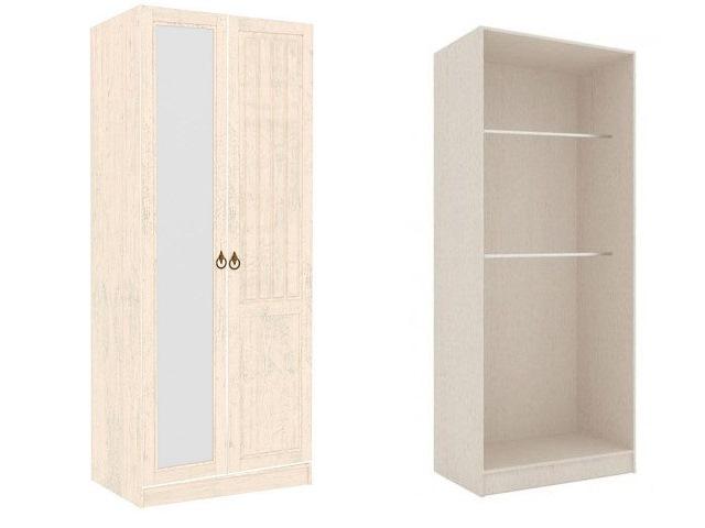 ЛД.642240.000 Шкаф высокий двухстворчатый (1 зеркало)