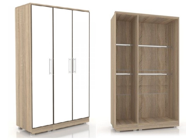 ЛД 631150.000 шкаф трехстворчатый (3 зеркала)