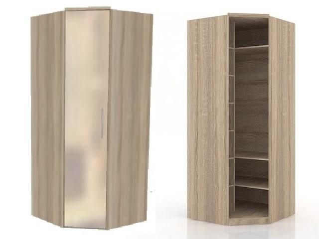 ЛД 631190.000 шкаф угловой 45 (зеркало)
