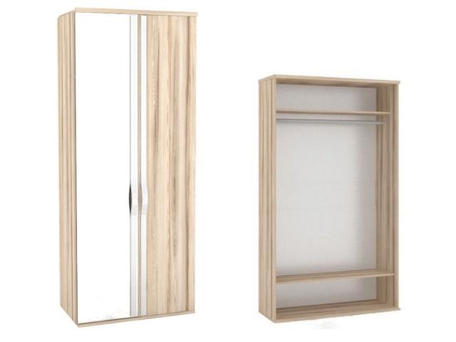 ЛД.636020.000 Шкаф двухстворчатый (1 зеркало)
