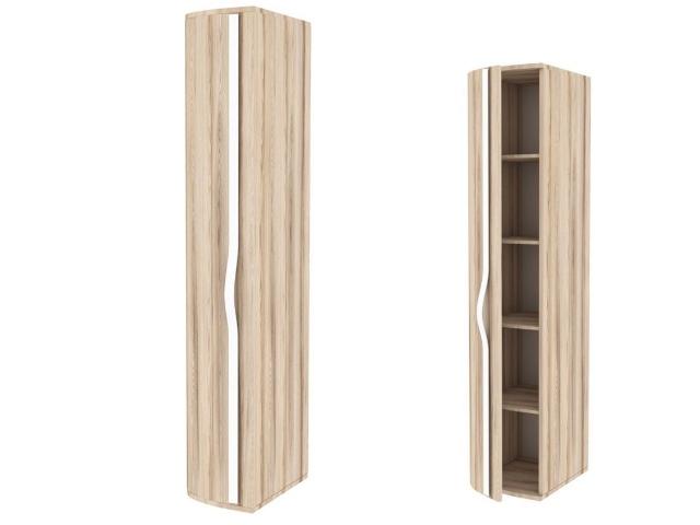 ЛД.636080.000 Шкаф-окончание с гнутой дверью левый