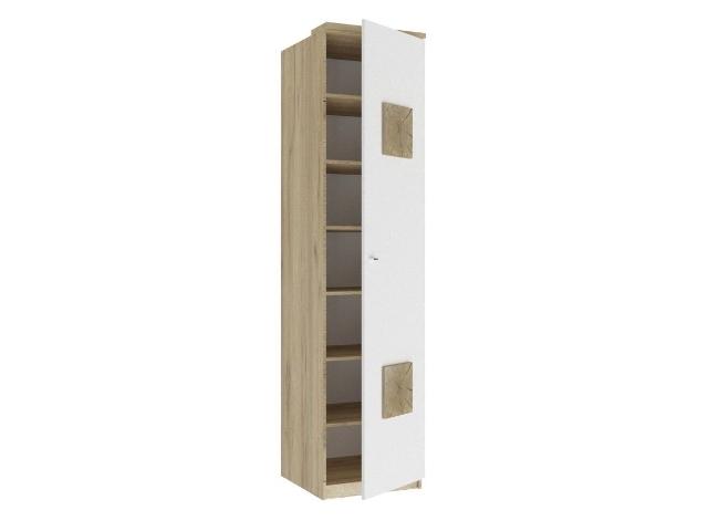 ЛД.659160.000 Шкаф одностворчатый (с накладками)  Белый