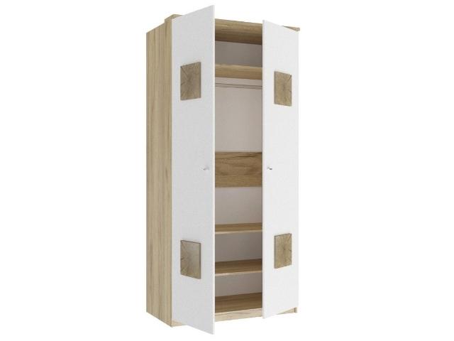 ЛД.659150.000 Шкаф двухстворчатый (с накладками)  Белый
