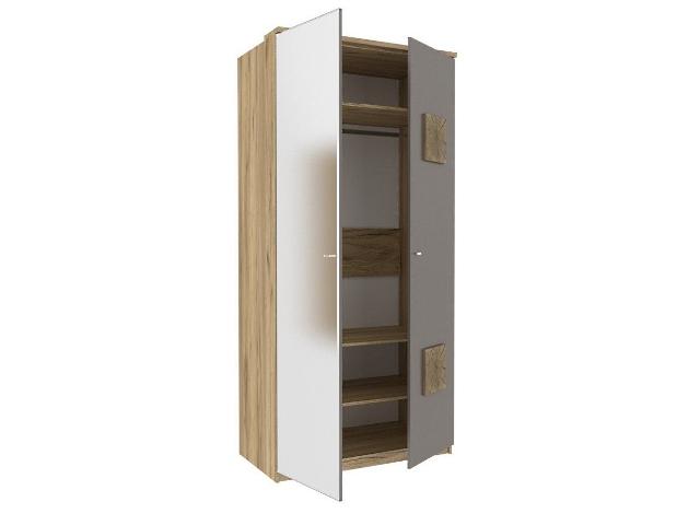ЛД.659230.000 Шкаф двухстворчатый (1 зеркало) Антрацит