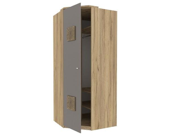 ЛД.659240.000 Шкаф угловой 45 (с накладками) Антрацит