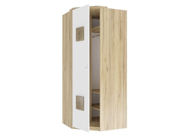 ЛД.659240.000 Шкаф угловой 45 (с накладками)  Белый