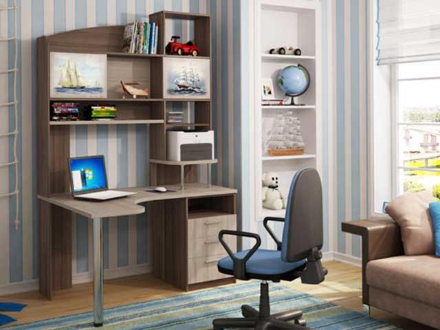 компьютерный стол в интерьере фото