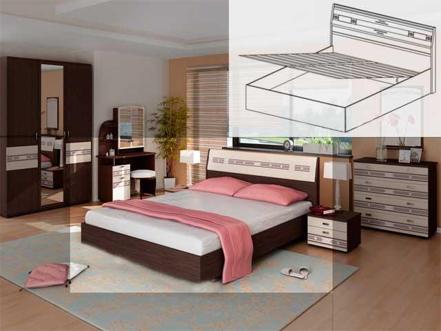 Кровать под.мех.,б/м (1600) 95.21